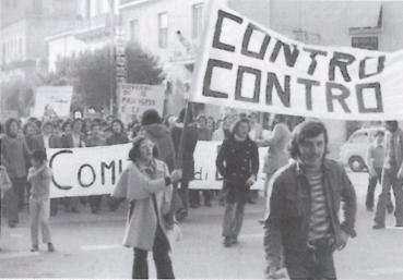 manifestazione studentesca e operaia