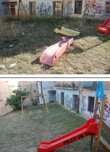 parco giochi prima e dopo